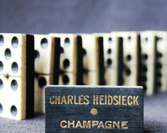Antique Heidsieck Champagne domino. LISTING for 1 ONLY