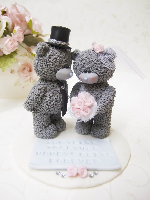me to you tatty teddy wedding cake topper d ours ellegant personnalis 233 mariage topper 17273