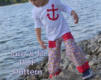 Boy Pants Sewing Pattern Tutorial & Applique