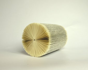 Book Sculpture - Cylinder - folded Book