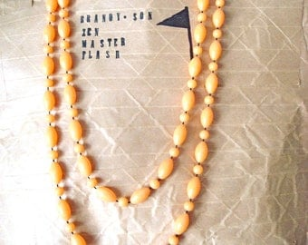 Creamsicle Vintage Beaded Necklace * On Sale!