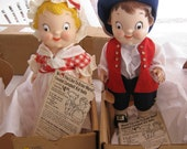 July 4th Campbell Kids PAIR Vinyl Dolls MINT Original Box By Gatormom13 REDUCED