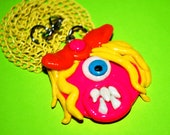 Girly Cyclops Monster with Bow