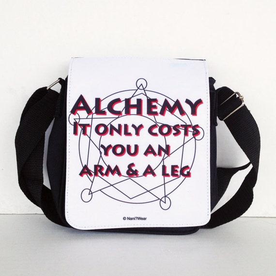 Fullmetal Alchemist Messenger Bag Small: Alchemy Only Costs