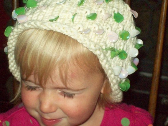 Hat, ONE SIZE fits all, Woman, Teen,Young Girl,  Baby,  Hat with Sequins,  head warmth, clothing, woman, teen, acrylic, winter clothing