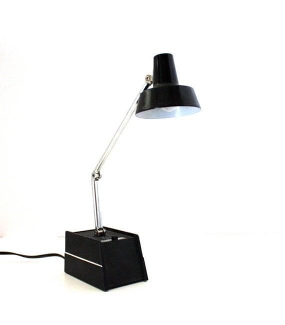 Vintage BLACK Gooseneck Reading Lamp