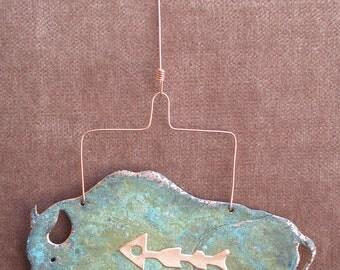 BUFFALO Copper Verdigris Ornament - Handcrafted in The Copper State (Arizona USA)
