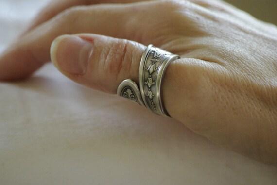 unisex thumb ring handmade antique spoon ring silver