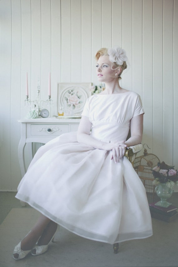Items similar to audrey with sleeves funny face inspired for Funny face wedding dress