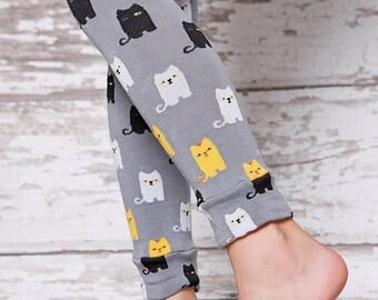 Leg Warmers - Grey Silly Kitty