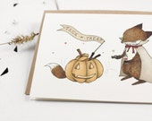 Halloween Card - Trick or Treat - 10 Greeting Cards