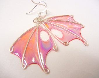 UPGRADE any single pair of faery wing earrings with sterling silver ear wires