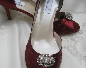 Wedding Shoes Apple Red Shoes Vintage Inspired Brooch -100 Additional Colors To Pick From