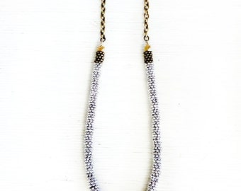 silver brass necklace