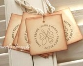 Family Recipe Tags - Brown, Cream, Vintage Inspired, Gift Tags 10