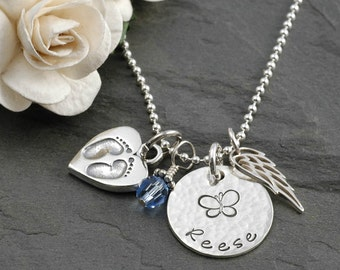 Personalized Baby Remembrance Necklace