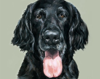 Flat Coated Retriever Print - Ltd. Ed Art dog print