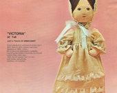Bucilla SOFT DOLL KIT - Victoria 22 Inches - Creative Needlecraft circa 1976