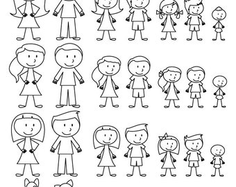 Stick People Etsy - Cartoon stick people clip art