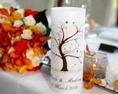 Table Numbers - Centerpieces - Table Decor - Luminary - Wedding Decor - Party Decor - Autumn Weddings - Fall Weddings - Autumn Tree Design