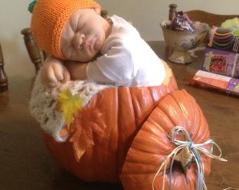 Preemie baby Pumpkin Hat