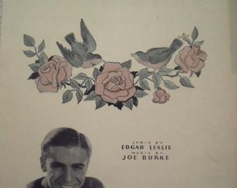 1936 Robins & Roses Edgar Leslie Joe Burke Song Book Sheet Music