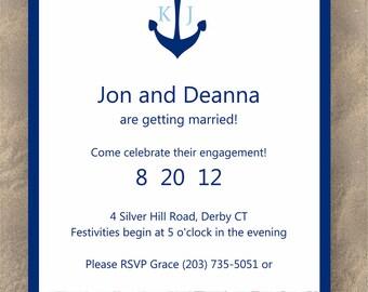 Striped Anchor- Event Invitation