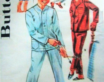 Butterick 2341 Boys 60s Pajama Sewing Pattern Chest 30