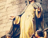 Virgin Mary Photo, Virgin Mary Art, Madonna Statue, Travel Photo, religious art, blue, gold, spain, Beauty, Christmas, fine art photo