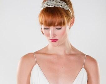 Bridal Headband- Beaded 20's Art Deco Inspired