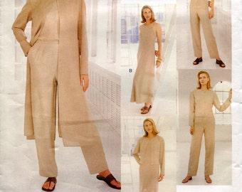 Vogue 1985 Adri Wardrobe Jacket Duster Top Dress Pants Attitudes B34 B36 B38 Uncut