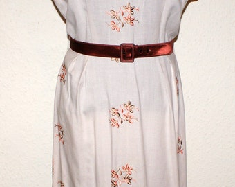 Vintage 1950s autumn fall colours wiggle hourglass dress M VLV rockabilly