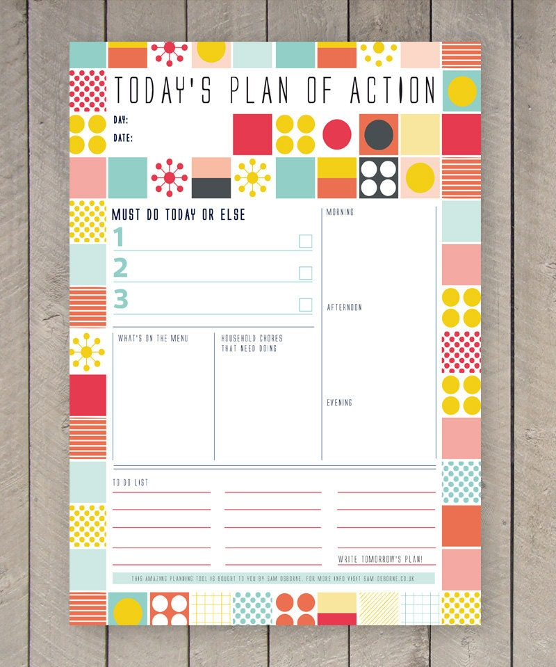 Soft image in free printable organizer