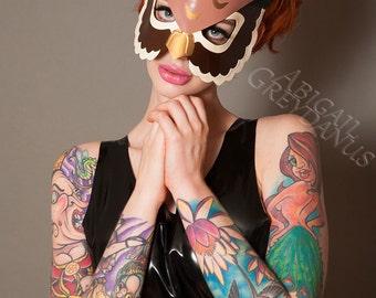 Latex Owl masquerade mask