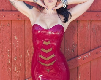 Holly Latex Strapless dress