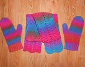 Happy Vibes Scarf and Mittens Set