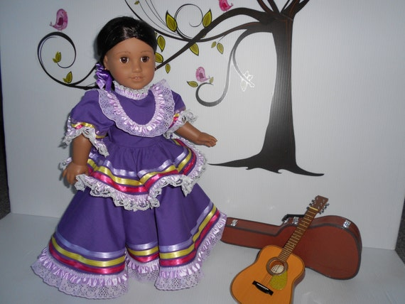 Mexican folklorico Jalisco dress for American Girl and similar
