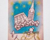 Festive Norwich Christmas Card