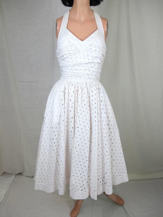Innovative Ivy Amp Blu Womens White Cotton Eyelet Lace Sleeveless Dress  Eonew