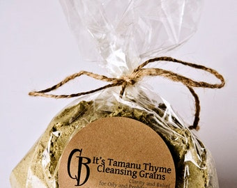 It's Tamanu Thyme Cleansing Grains Facial Scrub for Oily Skin - BULK 6 oz plus RECIPE