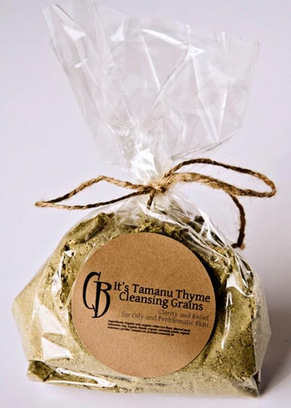 It's Tamanu Thyme Cleansing Grains Facial Scrub for Oily Skin - BULK 6 oz plus RECIPE