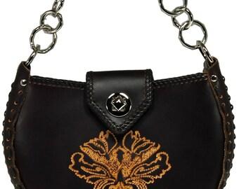 Tooled Leather Handbag - Taos