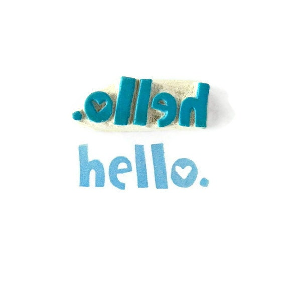 SALE Why, Hello - Cling Rubber Stamp - Ready to Ship