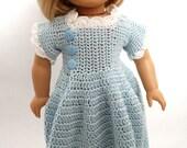 CLEARANCE - 18 inch Doll Dress - Soft Blue