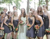 Convertible Bridesmaid Dress - Jersey Infinity Wrap Style