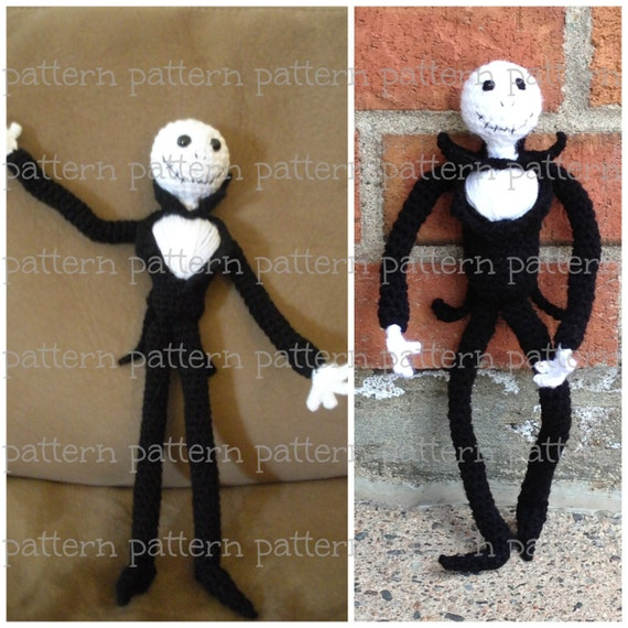 Amigurumi Jack Skellington Pattern : PATTERN Jack Skellington Amigurumi Doll PATTERN Nightmare