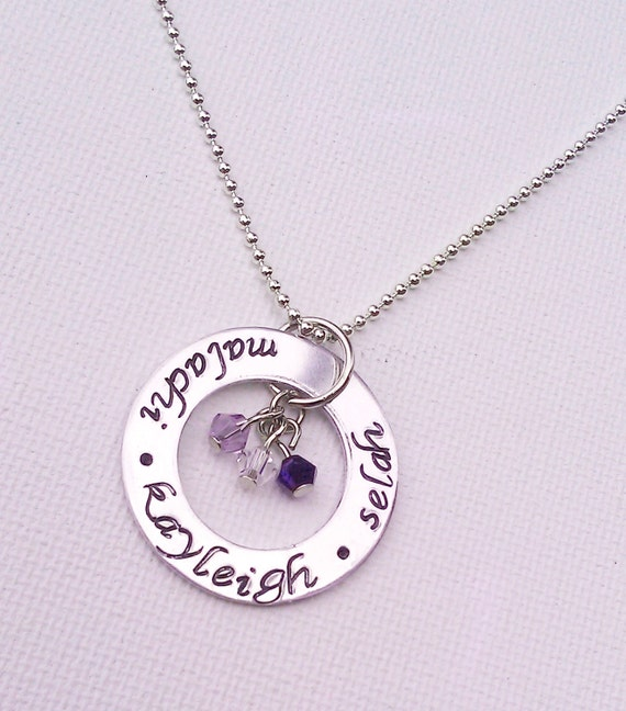 kids names necklace personalized family necklace with. Black Bedroom Furniture Sets. Home Design Ideas
