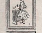 Clip Art Design Transfer Digital File Vintage Download DIY Scrapbook Shabby Chic Pillow Burlap Alice in Wonderland Drink me Art No. 0526