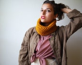 The Mini Cowl in Mustard Wool Blend