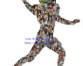 Reserved 8 x 10 For Stefanie Baseball Soccer, Volleyball, Hockey, Football, Basketball - ALL sports Personalized Photo Collage Silhouettes